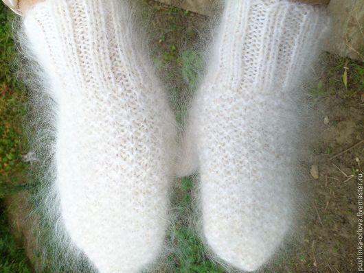 """Варежки, митенки, перчатки ручной работы. Ярмарка Мастеров - ручная работа. Купить Варежки белые """"Зима"""". Handmade. Варежки"""