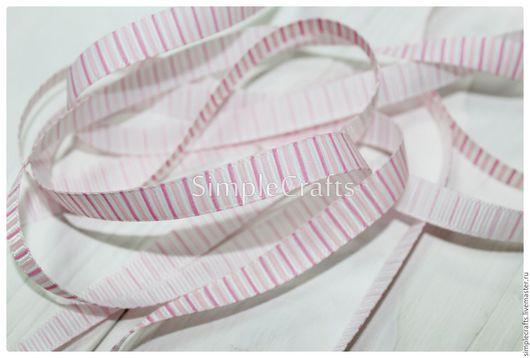 Шитье ручной работы. Ярмарка Мастеров - ручная работа. Купить Репсовая лента ПОЛОСКА розовый 10 мм. Handmade. Шнур