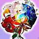 """Освещение ручной работы. Ярмарка Мастеров - ручная работа. Купить Светильник """"Стеклянные цветы"""". Handmade. Цветы, светильник, ночник, для дома"""
