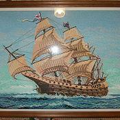 """Картины и панно ручной работы. Ярмарка Мастеров - ручная работа """"Корабль в море"""". Handmade."""