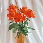 Цветы ручной работы. Ярмарка Мастеров - ручная работа Цветы интерьерные Огоньки букет. Handmade.