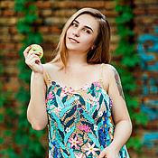 """Одежда ручной работы. Ярмарка Мастеров - ручная работа Летний сарафан крючком """"Полевые цветы"""". Handmade."""