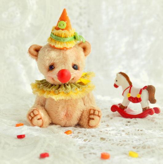 Мишки Тедди ручной работы. Ярмарка Мастеров - ручная работа. Купить Трям (6 см). Handmade. Бежевый, миник, сердце