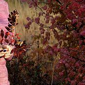 """Одежда ручной работы. Ярмарка Мастеров - ручная работа """"Малиновая ветка бересклета"""" (итальянский кид-мохер от Миссони). Handmade."""