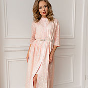 c6d99d296d0 Dress in Chanel style champagne color – shop online on Livemaster ...