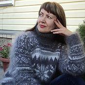 Одежда handmade. Livemaster - original item Downy sweater with ornament.. Handmade.