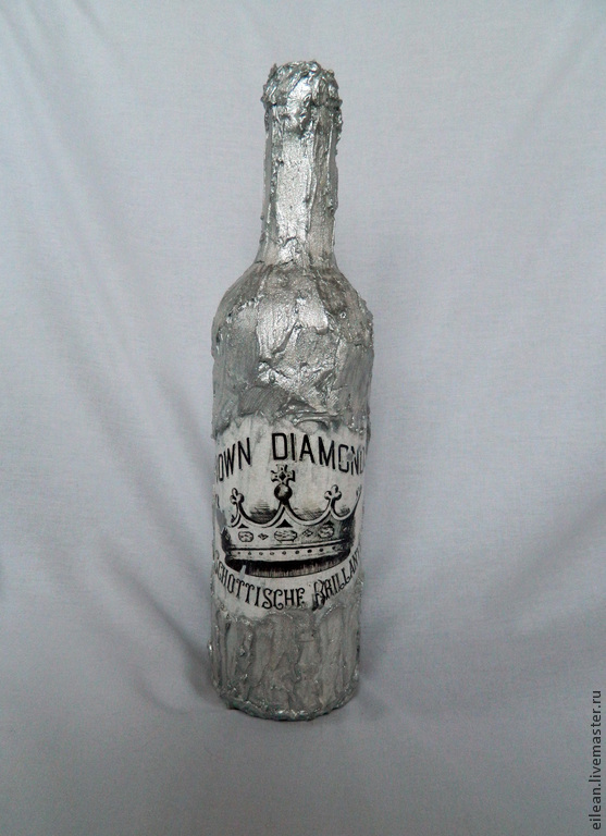 "Бутылка, терра, декупаж, ""Алмазная корона"", Вазы, Зеленоград,  Фото №1"