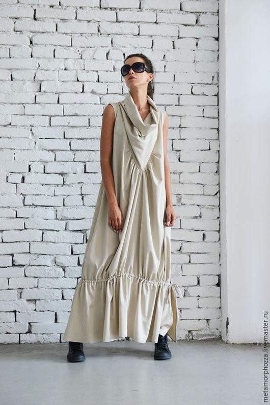 Платья ручной работы. Ярмарка Мастеров - ручная работа. Купить ПЛАТЬЕ Maxi beige. Handmade. Бежевый, сарафан, свободное платье
