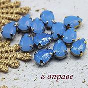 Материалы для творчества handmade. Livemaster - original item Rhinestones in DAC 7/10 mm Opal blue premium. Handmade.