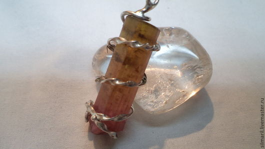 кулон`Кристалл` Naturial - турмалин натуральный цена1800 Серебренников