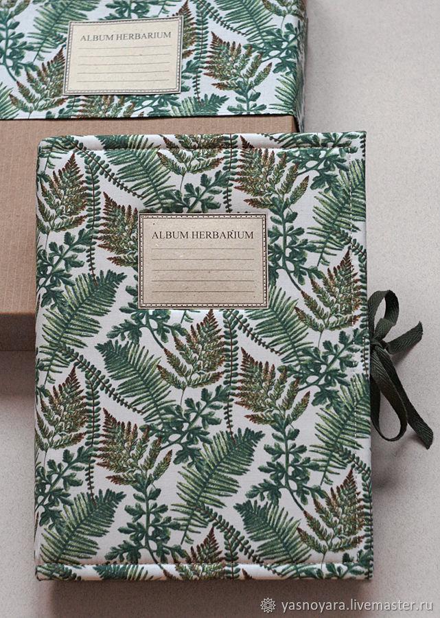 Herbarium album and box for storage.