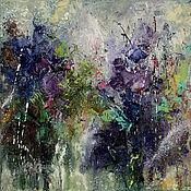 Картины и панно handmade. Livemaster - original item Purple abstract, oil painting. Handmade.