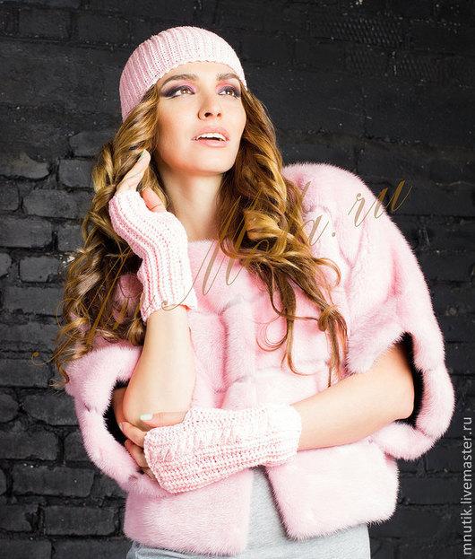 """Верхняя одежда ручной работы. Ярмарка Мастеров - ручная работа. Купить норковый """"Бомбер"""". Handmade. Розовый, мех натуральный"""