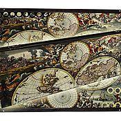 Нарды, шашки ручной работы. Ярмарка Мастеров - ручная работа Эксклюзивные нарды OLD MAP (серия S). Handmade.