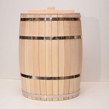 Для дома и интерьера ручной работы. Ярмарка Мастеров - ручная работа Кадка из кедра. Бочка для воды деревянная 100 литров.. Handmade.