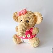 """Куклы и игрушки ручной работы. Ярмарка Мастеров - ручная работа Слоник """"Розовое облачко"""". Handmade."""