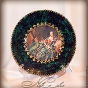 """Посуда ручной работы. Ярмарка Мастеров - ручная работа декоративная тарелка """"Мадам де Помпадур"""". Handmade."""