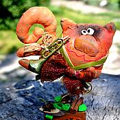 Куклы и игрушки ручной работы. Ярмарка Мастеров - ручная работа Кошачий блюз.. Handmade.