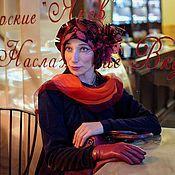"""Аксессуары ручной работы. Ярмарка Мастеров - ручная работа дизайнерская шляпка из фетра """"Мэри"""". Handmade."""