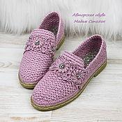 Обувь ручной работы handmade. Livemaster - original item Size 38-Loafers embroidered with beads and beads, women`s. Handmade.