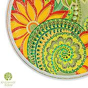 Посуда handmade. Livemaster - original item WHILE Blooming FERN. Decorative stained glass plate. Handmade.