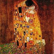 Материалы для творчества ручной работы. Ярмарка Мастеров - ручная работа Климт лоскут ткани. Handmade.