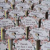 Бонбоньерки ручной работы. Ярмарка Мастеров - ручная работа Свадебный шоколад. Handmade.