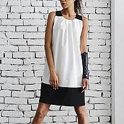 Одежда handmade. Livemaster - original item Black and White Short Dress. Handmade.