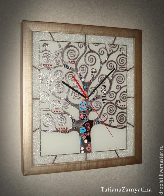 "Часы ""Древо жизни"" серебро, Часы для дома, Санкт-Петербург, Фото №1"