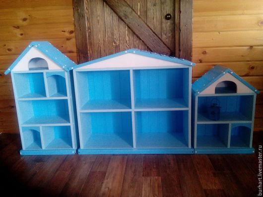 """Детская ручной работы. Ярмарка Мастеров - ручная работа. Купить """"городок"""". Handmade. Голубой, Мебель, стеллаж из дерева"""