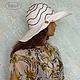 """Шляпы ручной работы. Ярмарка Мастеров - ручная работа. Купить Шёлковый шарф-парео и шляпка (пляжный комплект) """"Лабиринт"""". Handmade."""