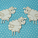 """Открытки и скрапбукинг ручной работы. Ярмарка Мастеров - ручная работа. Купить Набор """"Три овечки"""". Handmade. Белый, овечка, Овечки"""