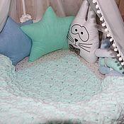 Бортики в кроватку ручной работы. Ярмарка Мастеров - ручная работа Бортик косичка 4х прядная. Handmade.