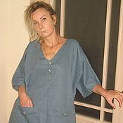 Одежда ручной работы. Ярмарка Мастеров - ручная работа бохо блуза (лен). Handmade.