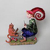 Куклы и игрушки ручной работы. Ярмарка Мастеров - ручная работа Кот и Гном. Handmade.
