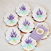 Сувениры и подарки handmade. Livemaster - original item Gingerbread cookies with lavender. Handmade.