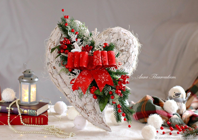 Interior wreaths: Pendant on the wall ' Heart', Wreaths, Ryazan,  Фото №1