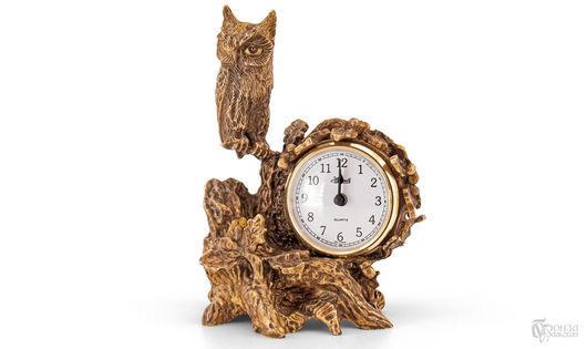 Часы для дома ручной работы. Ярмарка Мастеров - ручная работа. Купить Сова. Handmade. Сова, часы интерьерные, уральская бронза