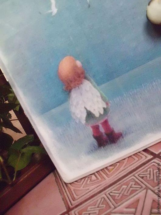 """Прихожая ручной работы. Ярмарка Мастеров - ручная работа. Купить Ключница""""Я вырасту и буду летать..."""". Handmade. Голубая ключница"""