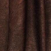 Ткани ручной работы. Ярмарка Мастеров - ручная работа Ткань для штор портьерная однотонная Софт Темно-коричневый цвет, венге. Handmade.