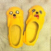 Обувь ручной работы. Ярмарка Мастеров - ручная работа Тапки Джейк. Handmade.