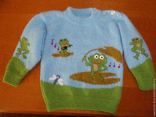 Одежда для мальчиков, ручной работы. Ярмарка Мастеров - ручная работа. Купить Детский пуловер с рисунком. Handmade. Рисунок, детская одежда