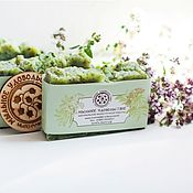 Косметика ручной работы handmade. Livemaster - original item Soap from scratch Green tea with bergamot, thyme and oregano. Handmade.