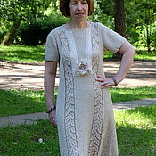 Одежда ручной работы. Ярмарка Мастеров - ручная работа Авторское платье для офиса из хлопка. Handmade.