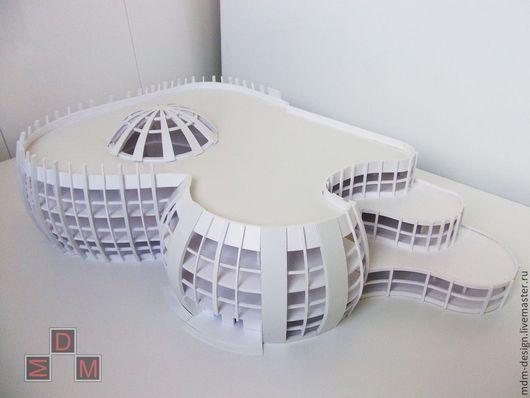 Макет проекта торгового центра выполнен в концептуальном стиле в масштабе 1 : 50.Макет был сделан с целью презентации проекта на защите курсовой работы