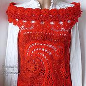 Одежда handmade. Livemaster - original item Knitted convertible vest-Bolero. Handmade.