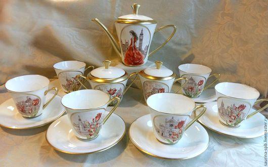 Персональные подарки ручной работы. Ярмарка Мастеров - ручная работа. Купить сервиз чайный. Handmade. Сервиз чайный, портрет по фотографии