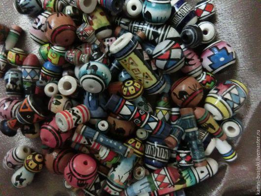 Керамические этнические бусины из Перу в ассортименте. Керамические Бусины для колье, керамика бусины для браслетов, керамическая бусина для серег.