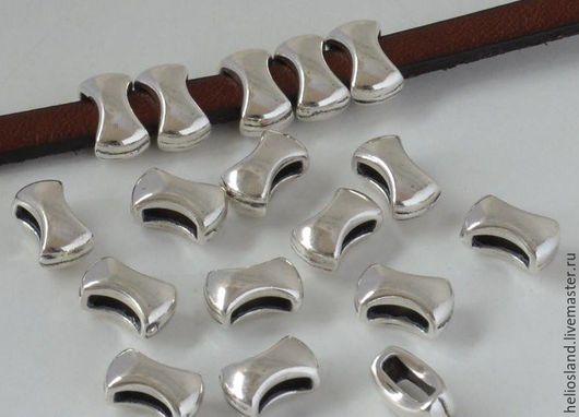 Для украшений ручной работы. Ярмарка Мастеров - ручная работа. Купить Бусины для плоских  шнуров 5-6 мм. Handmade.