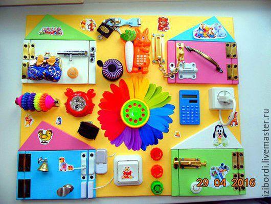 Развивающие игрушки ручной работы. Ярмарка Мастеров - ручная работа. Купить Бизиборд Цветочек. Handmade. Желтый, Монтессори, разноцветный